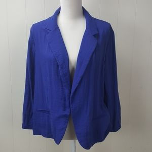 Chicos Open Front Blazer Jacket
